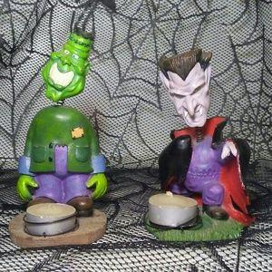 Vintage Halloween Decorations Monster Bobble Heads